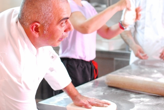 Chef explains how to prepare the dough