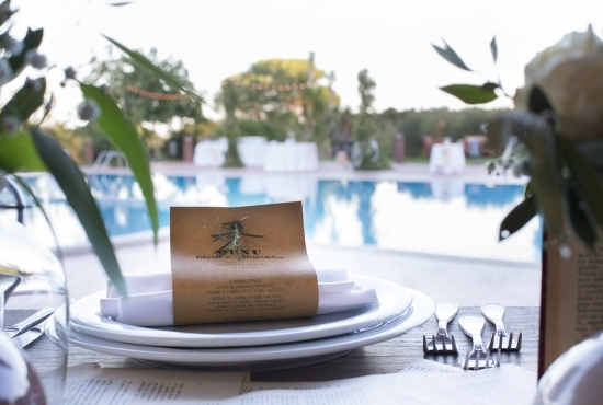 Wedding banquet by the pool